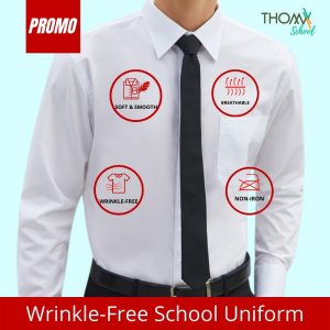 ThomX Wrinkle-free White Shirt Long Sleeve