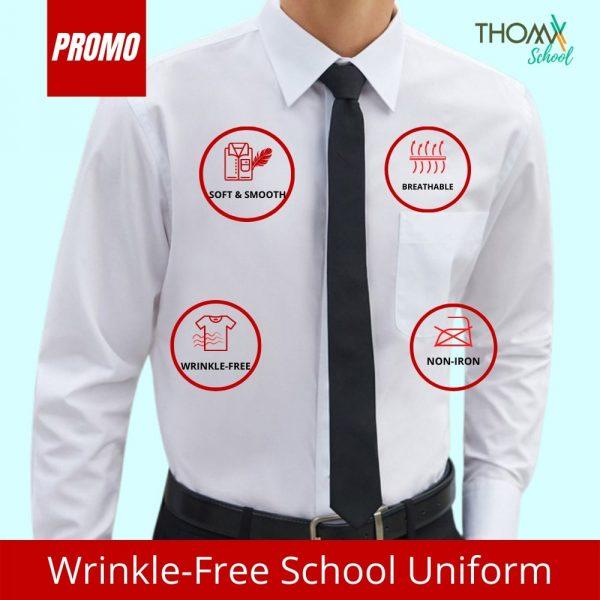 ThomX Wrinkle-free White Shirt Long Sleeve