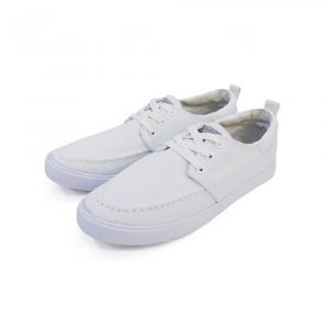 WHITE SCHOOL SHOES WITH LACE SOFT COVER