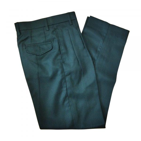 WRINKLE FREE BLACK LONG PANTS COTTON